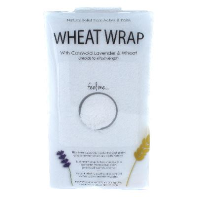 Plain Ecru Wheat Wrap in Acetate Gift Box